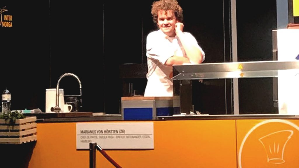 Marianus von Hörsten beim Next Chef Award der Internorga 2018. (c) Food Fellas Blog