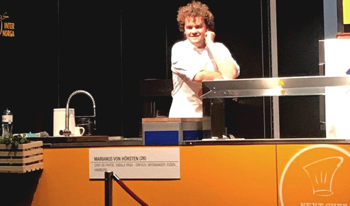 Marianus von Hörsten beim Next Chef Award der Internorga 2018. (c) Food Fellas Blog